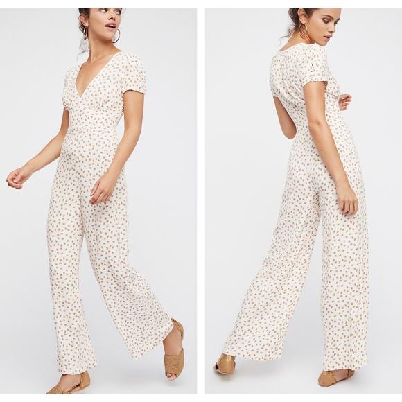 2e8d55f0d3f NEW Free People Mia Jumpsuit Pantsuit Romper SZ 10